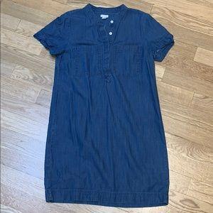 J. Crew Factory Denim Shift Dress
